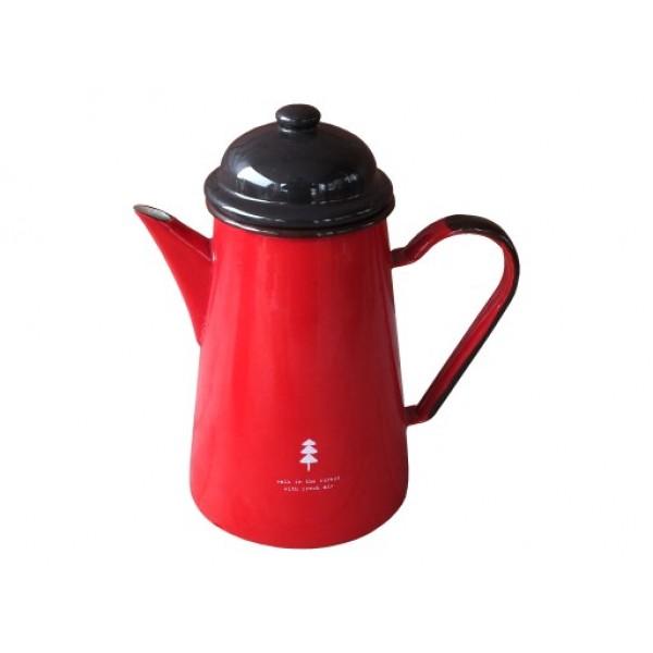 Кофейник 1.0л красный