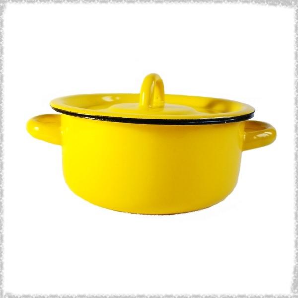 Кастрюля 1,2л желтая