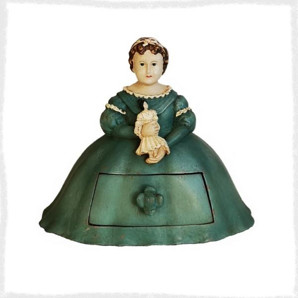 Шкатулка Девушка с куклой с...