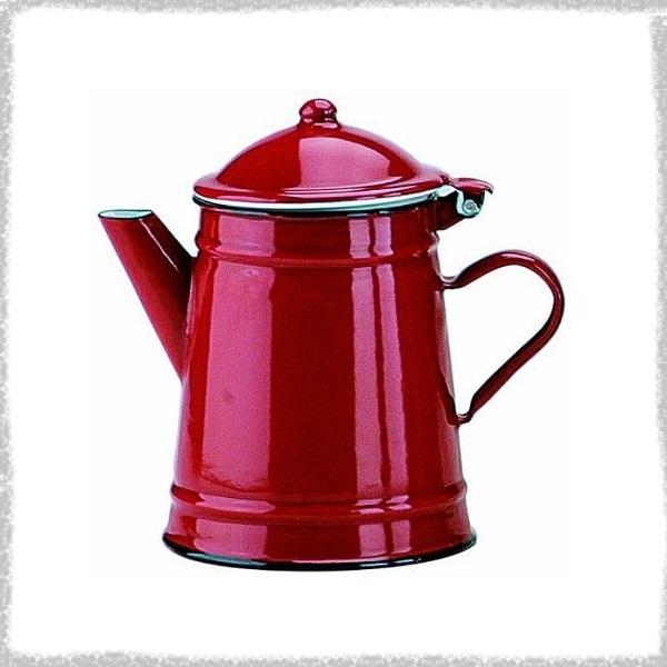 Кофейник 1л Маяк красный